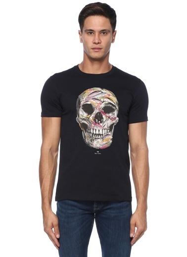 Paul Smith PS Paul Smith  Kurukafa Baskılı Basic T-shirt 101549289 Lacivert